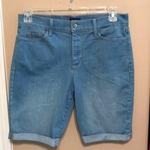 NYDJ size 12P petite 12 denim shorts lift tuck